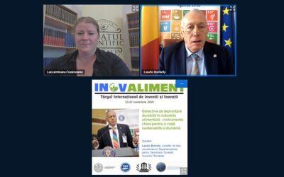 Conferințele INOVALIMENT – Sustenabilitatea alimentelor, o temă actuală de cercetare